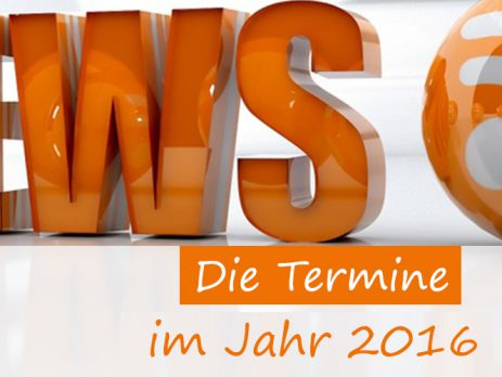 Trainingstermine 2016